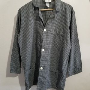 Christian dior pyjama plaid top sz medium